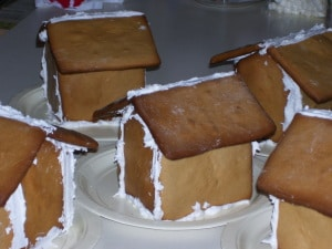 gingerbread houses not decorated