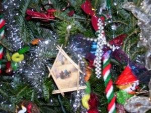 toothpick Christmas ornaments