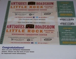 Picture of Antiques Roadshow tickets