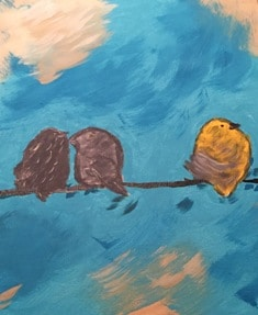 painting of three birds that seemed like a big mistake