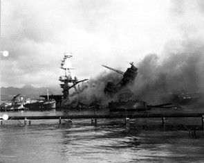 sinking of USS Arizona on December 7, 1941, now remembered as Pearl Harbor Dayt